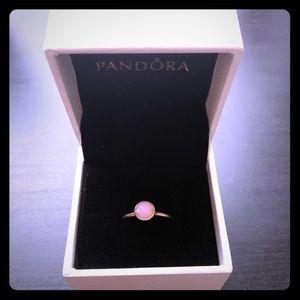PANDORA SS October opal ring; size 54